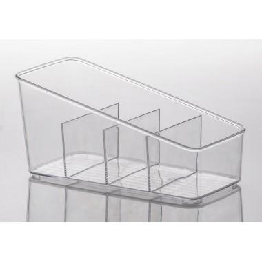 Organizador Diamond c/ Divisórias Cristal Paramount - 27 x 13 x 13cm