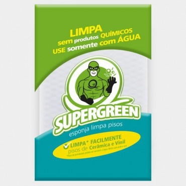 Supergreen Esponja para Pisos  23 x 11 x 1 cm