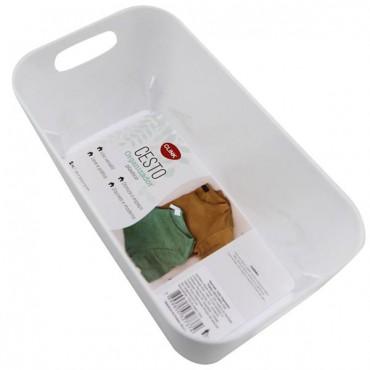 Cesto organizador plástico Clink - Branco