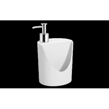 Dispenser R&J Basic 600 ml Coza - Branco 12 x 10,5 x 18 cm