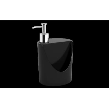 Dispenser R&J Basic 600 ml Coza - Preto 12 x 10,5 x 18 cm