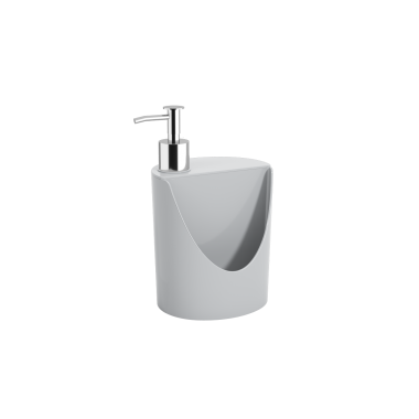 Dispenser R&J Basic 600 ml Coza - Cinza 12 x 10,5 x 18 cm