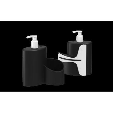 Dispenser Abraço Basic 600 ml Coza - Preto 19,7 x 8,5 x 16,6 cm