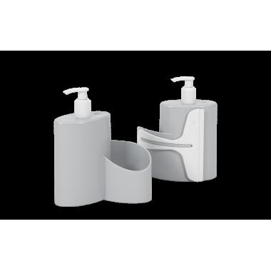 Dispenser Abraço Basic 600 ml Coza - Cinza 19,7 x 8,5 x 16,6 cm