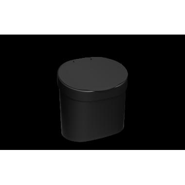 Lixeira com tampa 4 L Coza - Preto 22,8 x 15,6 x 22,4 cm