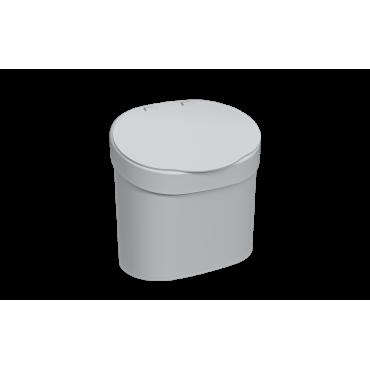 Lixeira com tampa 4 L Coza - Cinza 22,8 x 15,6 x 22,4 cm