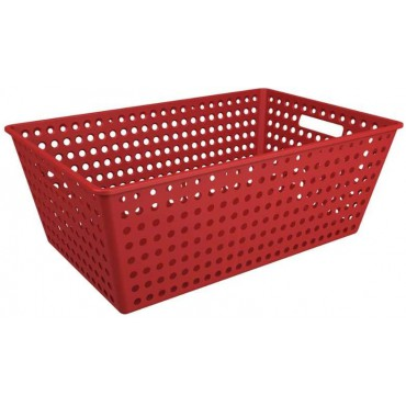 Cestão One Coza - Vermelho 59,5 x 38,8 x 22,3 cm