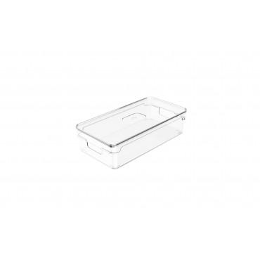 Organizador Clear com tampa 2,8L - 30 x 15 x 7 cm