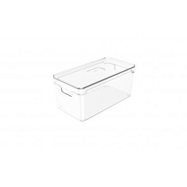Organizador Clear com tampa 5L - 30x15x13 cm