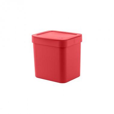 Lixeira Trium 4,7l com tampa OU - Vermelha