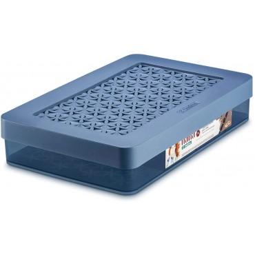 Caixa com Divisórias com tampa M Hana Ordene - Azul 31,5 x 20 x 6,2 cm