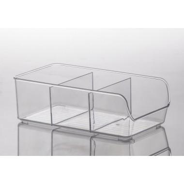 Organizador Diamond Com Divisórias Cristal Paramount - 28 x 14 x 9 cm