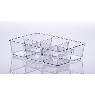 Organizador com divisórias Diamond 25 x 18 x 6 cm