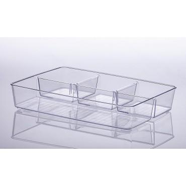 Organizador com divisórias Diamond 34 x 24 x 6 cm