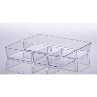 Organizador com divisórias Diamond 31 x 31 x 5 cm