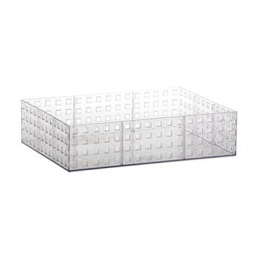 Organizador Empilhável Quadratta Cristal Paramount - 32 x 23 x 8 cm