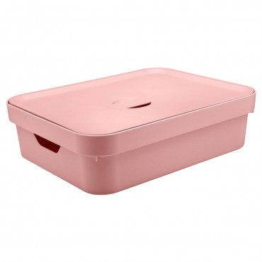 Caixa Cube G Baixa Rosa (RSQF) - Ou 44,5 x 34,5 x 13 cm