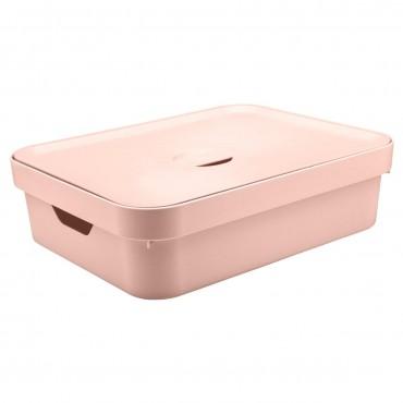 Caixa Cube G Baixa Rosa Claro (RSNF) - Ou 44,5 x 34,5 x 13 cm