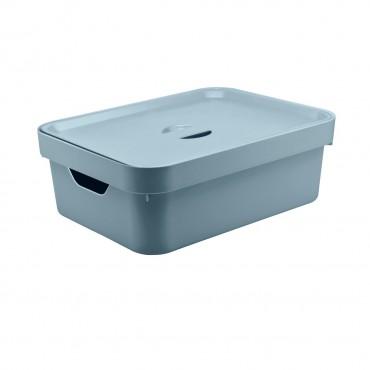 Caixa Cube M Baixa Azul (AZGF) - Ou 36 x 27 x 12,5 cm