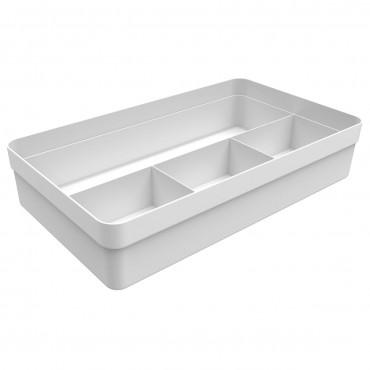 Organizador de gavetas Logic Ou 4 seções Branco 35,0 x 20,0 x 7,5 cm